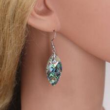 Abalone Shell Drop/Dangle Oval Costume Earrings