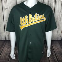 Majestic  Oakland Athletics A's Home Green Jersey Mens Sz XL