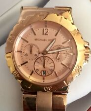 Michael Kors Rose Gold Dial Chronograph Ladies Watch MK5314