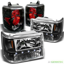 For 93-98 Jeep Grand Cherokee LED Headlights+Tail Lights Lamp New Replace