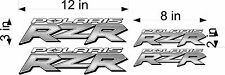 RZR POLARIS Silver 4 PACK Brushed EFFECT vehicle decal window sticker graphics
