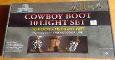 Cowboy Boot 10 Light Set 10 foot indoor-outdoor fused plug Rivers Edge 2007