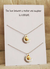 Love between Mother and Daughter 2 Necklaces Gift Wrapped Fashion Gift Necklace