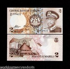 LESOTHO 2 MALOTI P4 1981 HORSE KING AFRICA UNC CURRENCY MONEY BILL BANK NOTE
