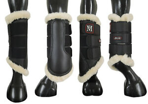 Mark Todd Pro Carbon Fleece Lined Brushing Boots Black/Natural Small-Large