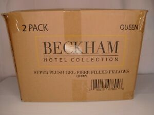 2 Pack Beckham Luxury Linens Hotel Collection Gel Pillows - Luxury Plush - Queen