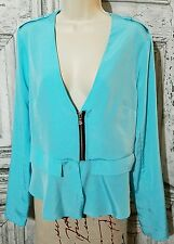 Kenneth Cole New York Women's Darcie Jacket Blazer Cyan Pool - M
