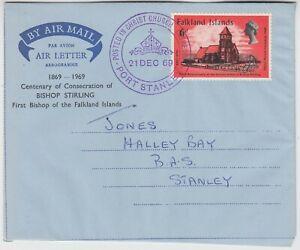 FALKLAND ISLANDS 1969 *Centenary Consecration of BISHOP STIRLING* air letter
