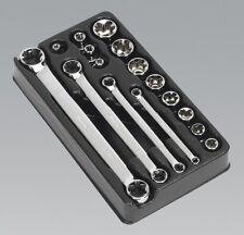 Sealey AK61801 Trx-star 3/8 SQ Drive Socket and Spanner Set 16pc