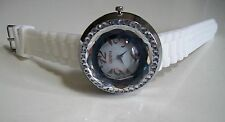 Women's Assorted Color Rhinestone Bezel Accented Silicone Rubber Fashion Watch