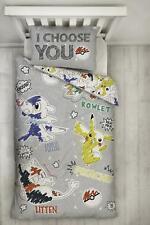 Pokemon 'Etch' Single Duvet Cover Reversible Bedding Pikachu Catch