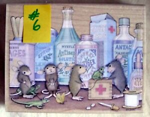 HOUSE MOUSE LG MOUNTED RUBBER STAMP - 2003 - PET CLINIC - MINT NEVER USED # 6