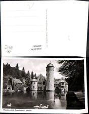 430926,Foto Ak Märchenschloss Schloss Mespelbrunn i. Spessart Schwäne Schwan