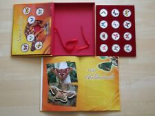 Vanuatu 18x 10 Vatu PP Schmetterlinge Farbe Butterfly colour 1 oz proof silvered