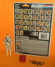1988 GI Joe Cobra Storm Shadow v2 Ninja Full Uncut File Card Back *Near Complete