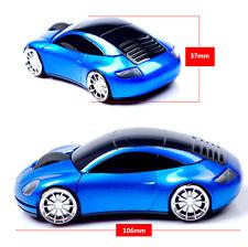 US 2.4G Wiredless 3D Porsches 911 TT Car Shape Usb Optical Gaming Mouse Light Up