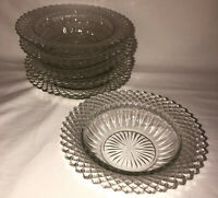 """6 Anchor Hocking MISS AMERICA CRYSTAL *6 1/4"""" CEREAL BOWLS*"""