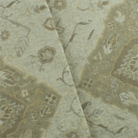 Beige/Brown Aztec Chenille Jacquard Decorating Fabric, Fabric By The Yard
