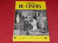 [REVUE LES CAHIERS DU CINEMA] N°99 # SEPT 1959 G. FRITZ LANG EO 1rst Print