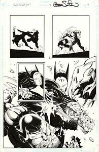 BATMAN/WILDCAT #3 SPLASH Page 7 Original Art by SERGIO CARIELLO & THIBERT/MIKI