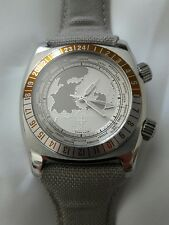 Zodiac Desert Master GMT ZO7001 Mens Watch Rare Model World Timer Swiss Made