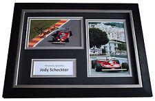 Jody Scheckter Signed A4 FRAMED photo Autograph display Formula 1 AFTAL COA