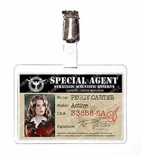 Agent Peggy Carter Marvel ID Badge Card Cosplay Prop Costume Comic Con