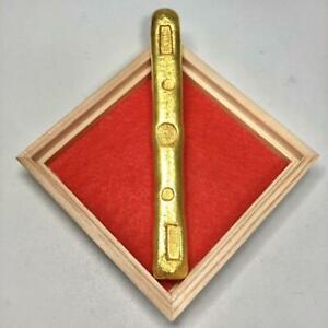 Gold Rod the inscription of 'FUKU(Lucky)' Antique coin lucky gold coin