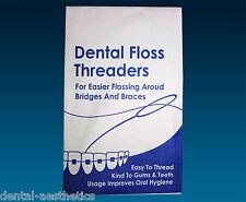 Floss Threaders x 10 ~ Dental Floss Holders Between Orthodontic Braces & Bridges