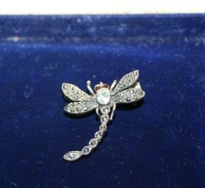 Small Silver & Marcasite Dragonfly Brooch