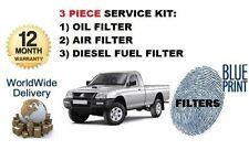 Per Mitsubishi L200 2.5 D 2.5 DT 1993-1996 l'olio combustibile aria (3) Filtro Servizio Kit