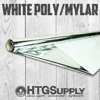 4' x 50' MYLAR REFLECTIVE FILM THICK WHITE 2 Mil Heavy-Duty Roll 48 Inch / 4 Ft.
