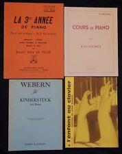 Lot (n°32) Partitions x4 PIANO 3è année, Cours, Kinderstück, l'enfant au clavier
