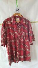 Vintage Men's Hawaiian Banana Cabana 100% Silk Button Down Shirt
