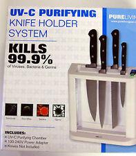 Pure Living Ultraviolet Light Sanitizing Purifying Knife Holder System