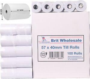 100 Rolls 57x40 Thermal rolls Credit Card Machine Receipt Paper Till Roll