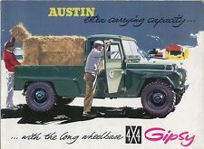 AUSTIN GIPSY SERIE II + PICK-UP 1960-61 ORIGINALE SALES BROCHURE PUB N. 1966/a