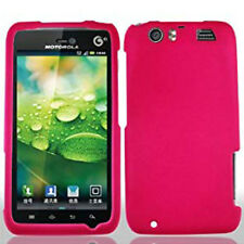 For AT&T Motorola Atrix HD Rubberized HARD Case Snap On Phone Cover Hot Pink