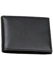 Mens Classic Black Bifold Slim Walet Genuine Lether From Ras Wallets
