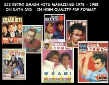 232 RETRO SMASH HITS MAGAZINE COLLECTION 1978 TO 1988 ON DVD IN PDF FORMAT