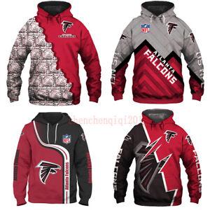 Atlanta Falcons Hoodies Football Sweatshirt Pullover Fans Casual Jacket Coat