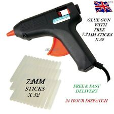 TRIGGER ELECTRIC HOT MELT GLUE GUN PLUS 52 ADHESIVE STICKS FOR HOBBY CRAFT MINI