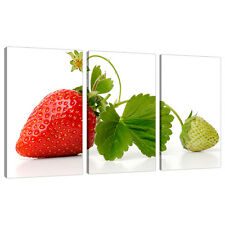 3 Panel Red Wall Art Canvas Pictures Kitchen Dining Room Prints 3074