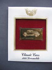 1988 Classic Cars 1928 Locomobile 22kt Gold GOLDEN FDI FDC replica Cover STAMP
