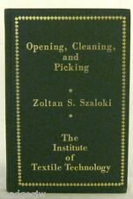 Opening Cleaning and Picking Textile Processing and Technology Szaloki Hardback