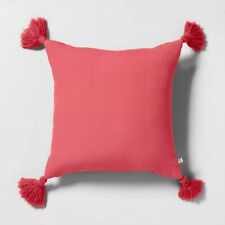 Hearth and Hand with Magnolia / Decorative Throw Pillow / Pink 18 x 18 w/Tassels