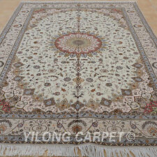 Clearance! Yilong 6'x9' Handmade Wool Carpets Hand Knotted Wool Shag Rugs1403