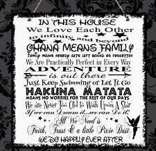 Personalised Disney Quotes Family Plaque Mum Sister Daughter Nanny Birthday Gift