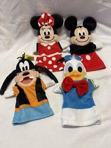 Melissa & Doug Disney Baby Hand Puppets Mickey Minnie Mouse Goofy Donald Lot 4