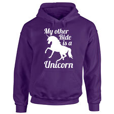 Adults Horse Hoodie - Unicorn Rides - Equestrian Lover Gift Hooded Unisex Top